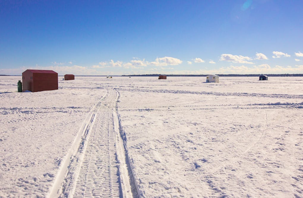 Four City Women and an Ice Fishing Adventure on Lake Simcoe